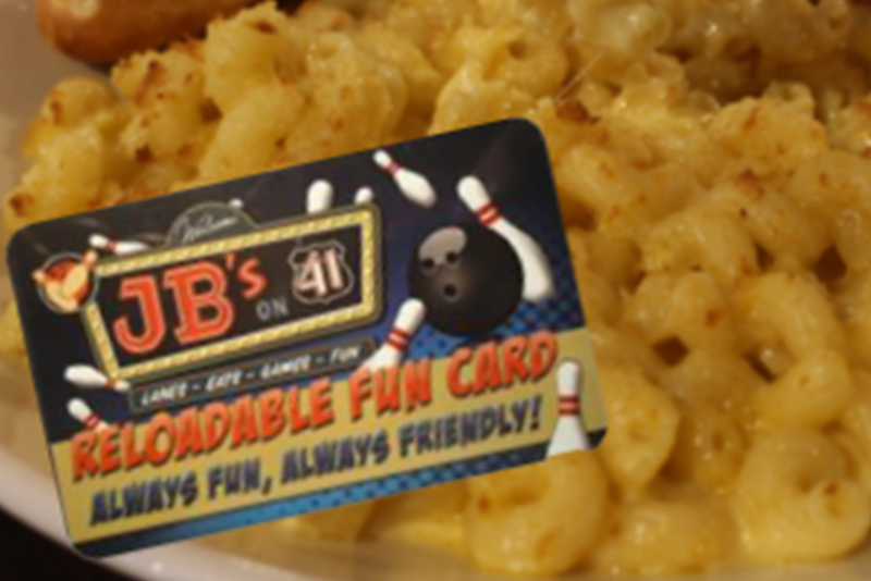 Mac and Cheese | Food and Arcade Combo | Full-Sized Entree plus Fun | Food and Entertainment Combo | Family Fun Center | Best of Both Worlds | Homemade Mac and Cheese | Next-Level Bowling Alley Food | Bowling Alley with Scratch Kitchen | Scratch Restaurant | JB's on 41 | Milwaukee, WI
