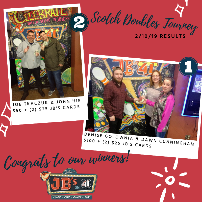 scotch doubles 2019 | bowling tournament results | bowling tournaments | milwaukee, wi | jb's on 41