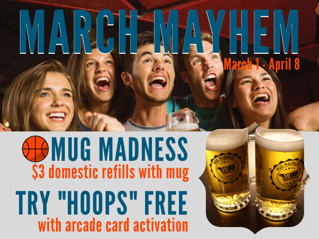 junction bar & grill | march promotions | march basketball | beer club | mug madness | catch the game | jb's on 41 | milwaukee, wi