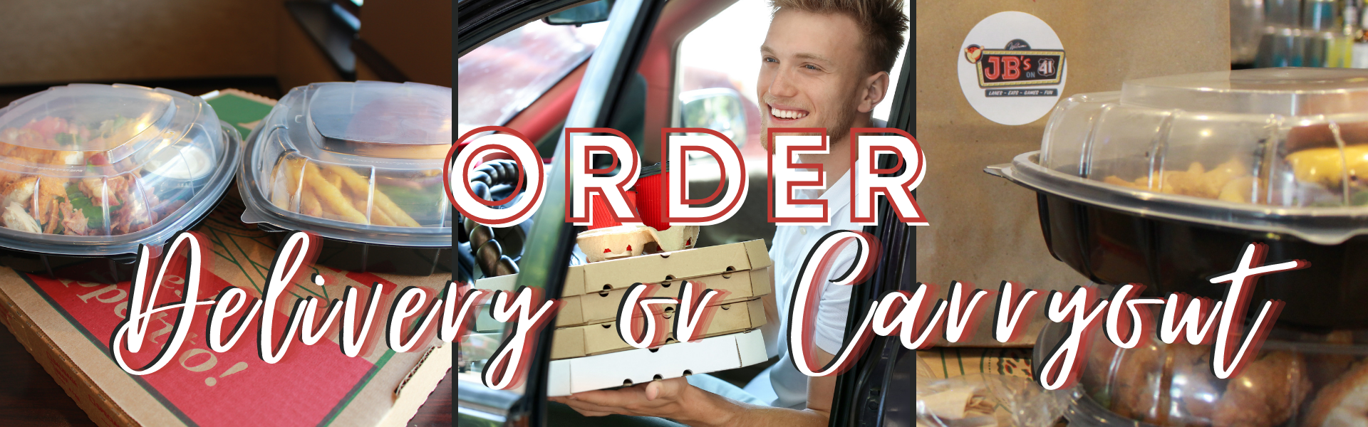 carryout and delivery | jb's on 41 | not your average bowling alley food