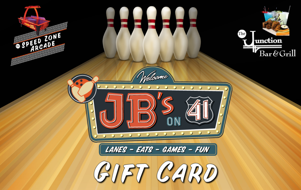 JB's on 41 Gift Card | Digital Gift Card | Entertainment Gift Card | Milwaukee WI
